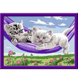 Ravensburger Ravensburger Schilderen op Nummer Kittens in de Hangmat