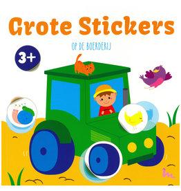 Basic Stickerboek Grote Stickers  op de Boerderij