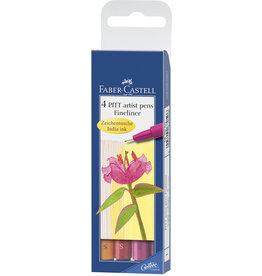 Faber Castell Faber Castell FC-167005 Tekenstift Faber-Castell Pitt Artist Pen S 4-delig Etui