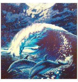 Craft Buddy Craft Buddy Crystal Art Diamond Painting Set Dolfijnen 40x50 cm