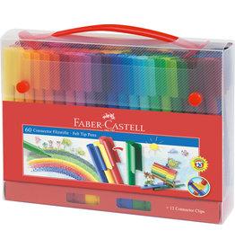 Faber Castell Faber Castell FC-155560 Viltstiften Faber-Castell Connector Koffer 60 Stuks