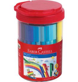 Faber Castell Faber Castell FC-155550 Viltstiften Connector Emmer Met 50 Stuks