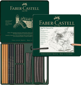 Faber Castell Faber Castell FC-112978 Houtskoolset Faber-Castell Pitt Monochrome 24-delig
