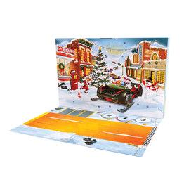 Mattel Hot Wheels Adventskalender met 24 Vakjes + 8 Auto's en 16 Accessoires