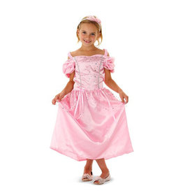 Folat Folat Prinsessenjurk Rose voor 6-8 jaar
