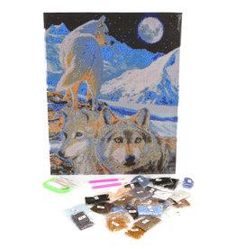 Craft Buddy Craft Buddy Crystal Art Diamond Painting Set Wolven 40x50 cm
