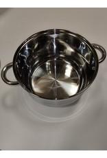 Satoshi Satoshi - 12-delige pannenset - RVS met glazen deksels - 6 pannen - Geschikt voor inductie