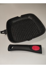 Satoshi Satoshi - Grillpan 24cm - met afneembaar handvat - geschikt voor inductie - met antiaanbak marmercoating