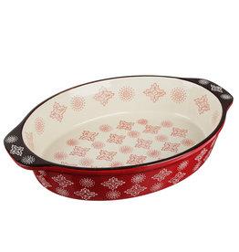 Millimi Millimi  - ovale ovenschaal - 1500ML - rood