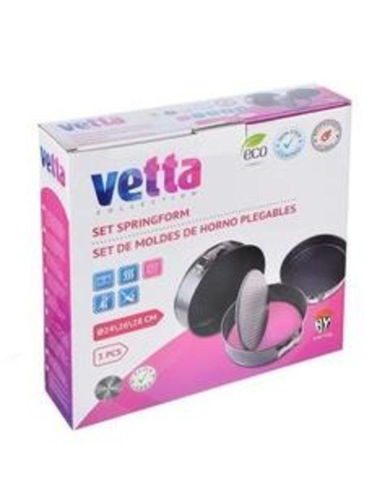 Vetta Vetta set van 3 ronde springvormen 24, 26, 28 cm