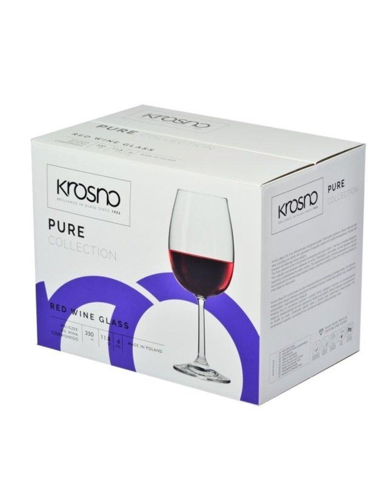 Krosno Krosno rode wijnglazen - 6 stuks - 350ml