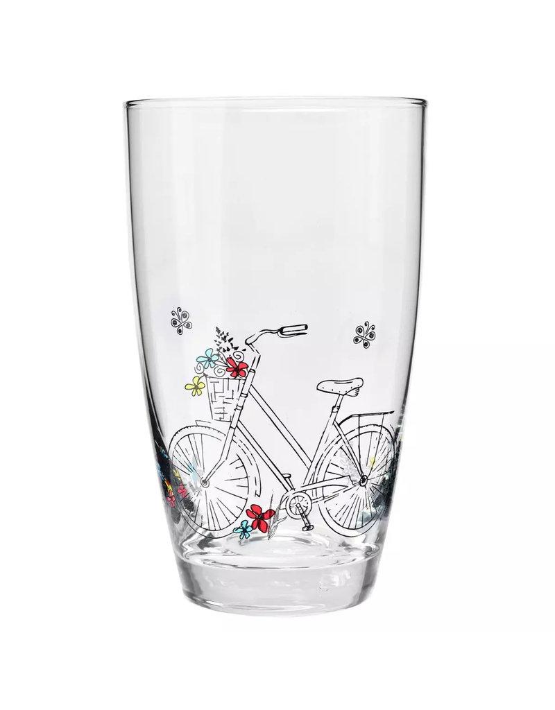 Krosno Krosno drinkglazen fiets design - 2 stuks - 450 ml