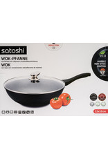 Satoshi Satoshi wokpan - 32 cm - met marmeren coating
