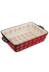 Millimi Millimi - Rechthoekige ovenschaal - rood -  31 x 19 x 6,5 cm 2200 ml