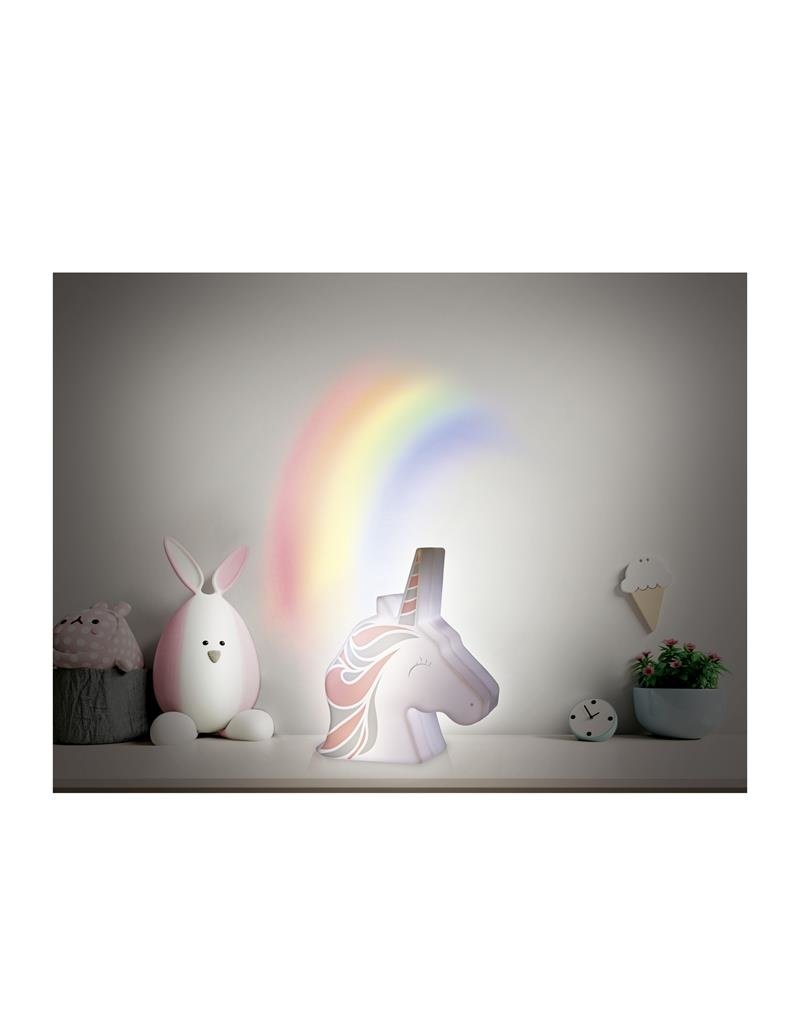 Home deco Kids nachtlamp eenhoorn - projectie regenboog