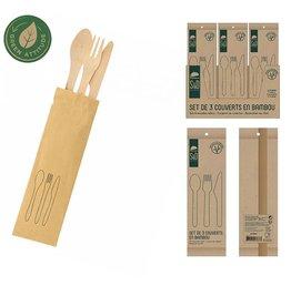 Bamboe bestekset 4 stuks