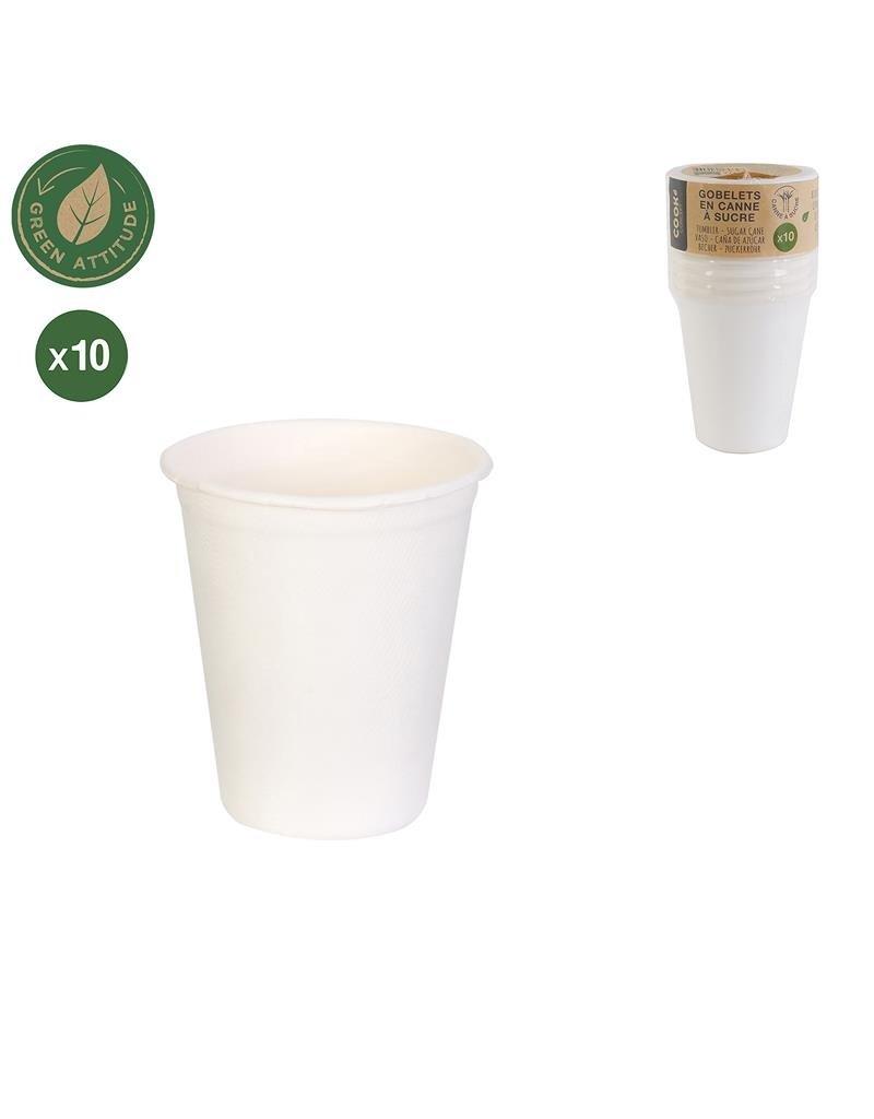 Cook Concept 10 disposable bekers - suikerriet - biologisch afbreekbaar