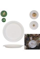 Cook Concept 10 disposable borden 25 cm - suikerriet - biologisch afbreekbaar