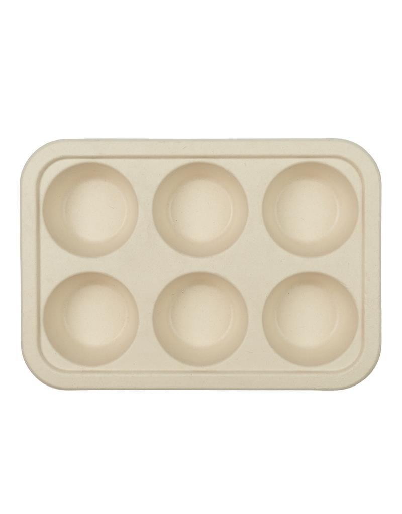 Cook Concept 6 disposable muffin bakvormen - suikerriet - biologisch afbreekbaar