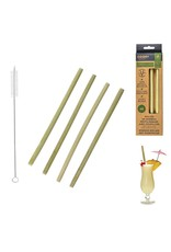 Cook Concept bamboe rietjes 4 st - met reinigingsborstel - biologisch afbreekbaar