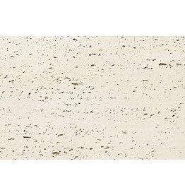 Phomi Travertine wandbekleding - flexibele tegel gebroken wit
