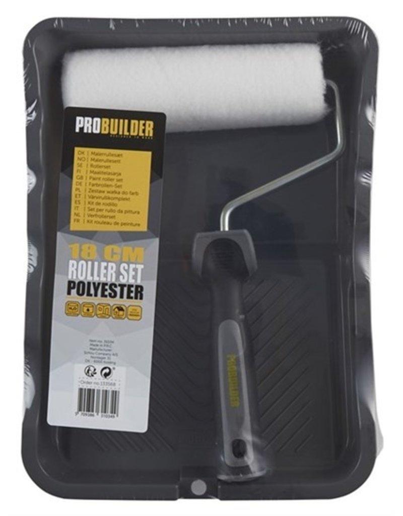Probuilder Probuilder rollerset - 18 cm roller - inclusief uitrolbak