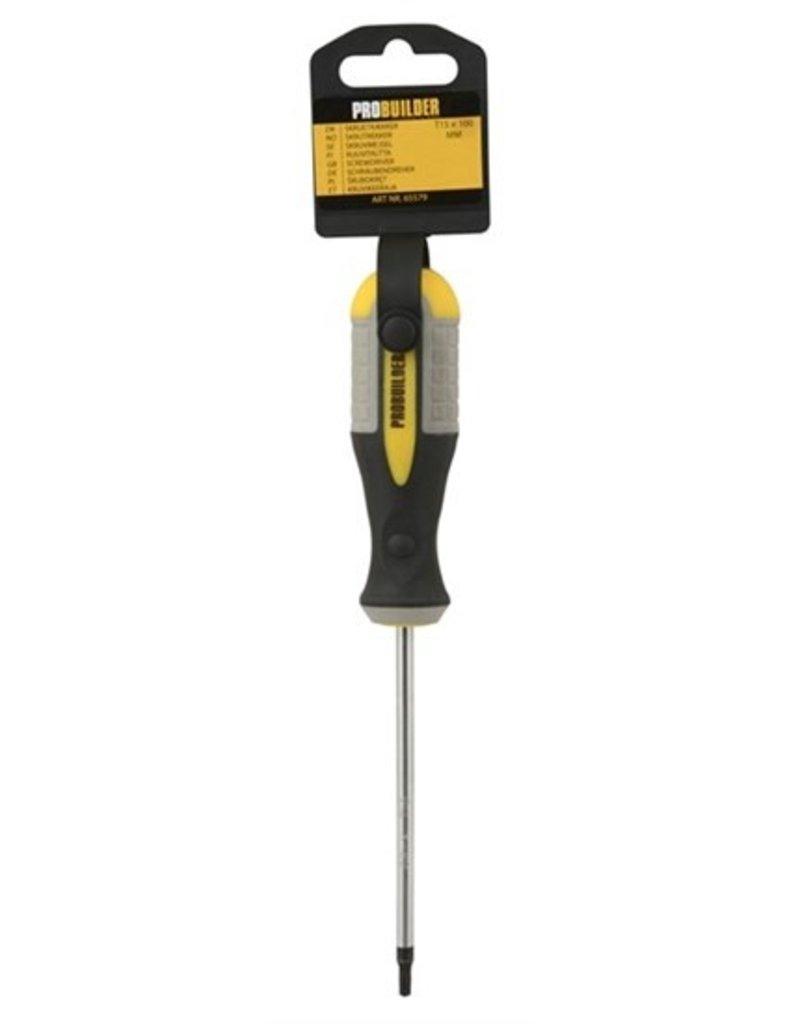 Probuilder Probuilder schroevendraaier - T15 - 100 mm - met softgrip