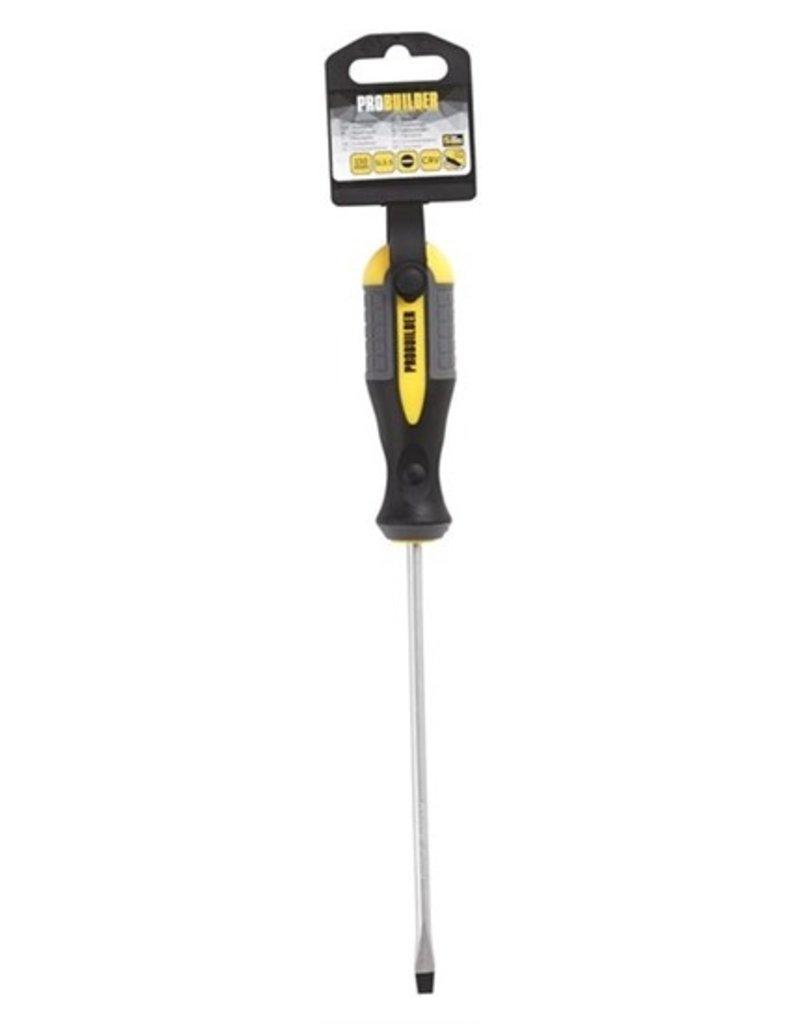 Probuilder Probuilder schroevendraaier - SL 5,5- 150 mm - met softgrip
