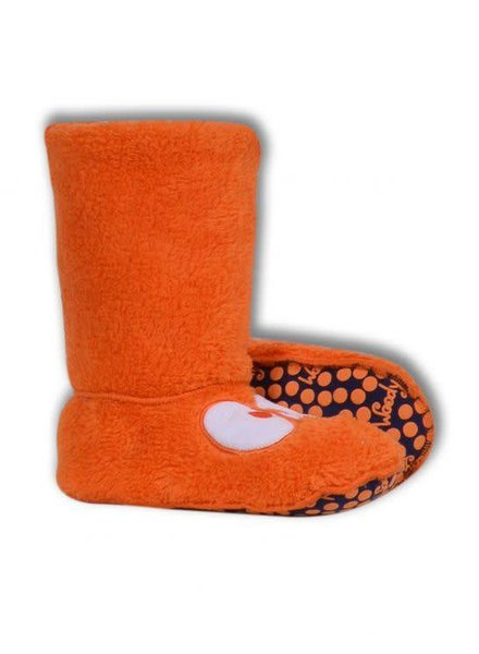 Woody Unisex pantoffels, bright orange met oogjes