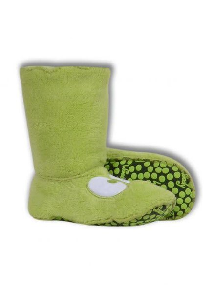 Woody Unisex slippers, lime green met oogjes