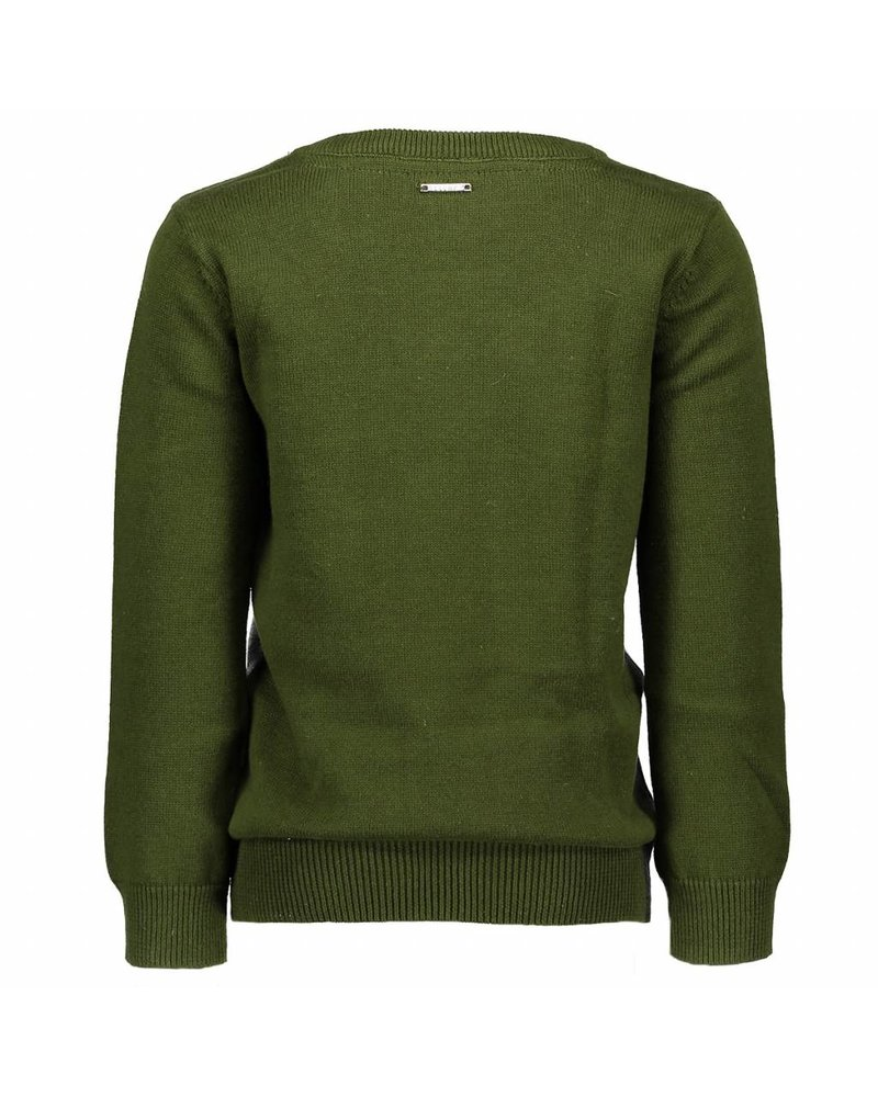 LCEE Knit pullover crossed panels