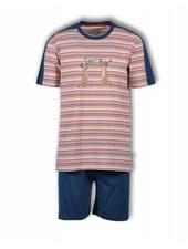 Woody Jongens-heren pyjama, S stripe meerkat gestreept