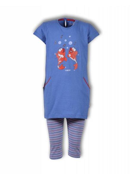 Woody Meisjes-dames pyjama, blue yonder