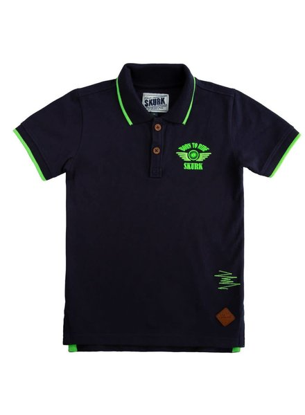 Skurk Navy polo born to ride