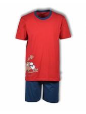 Woody Unisex pyjama, pompeian red