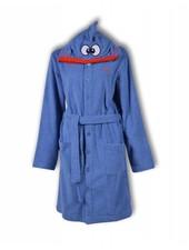 Woody Unisex badjas - blauw koivis