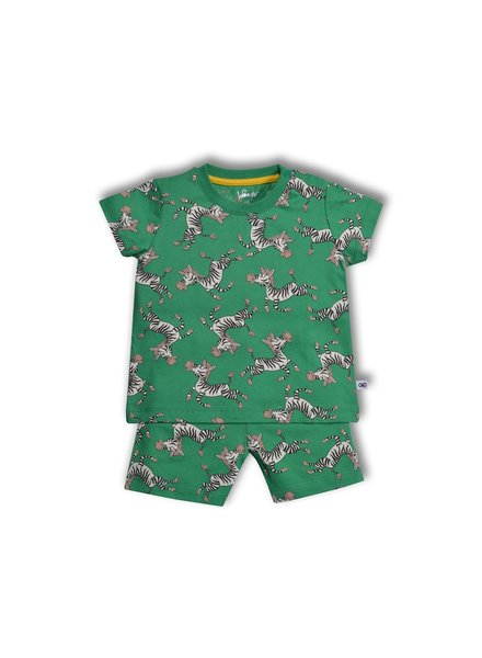 Woody Baby Unisex pyjama, zebra all-over-print