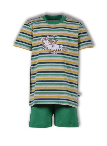 Woody Unisex pyjama, S stripe zebra gestreept