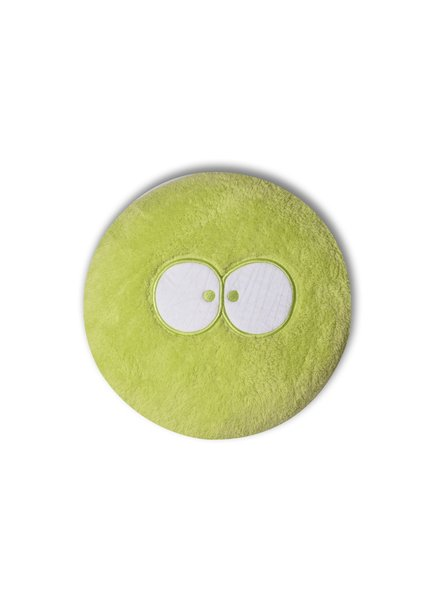Woody Round pillow with filling, limegroen