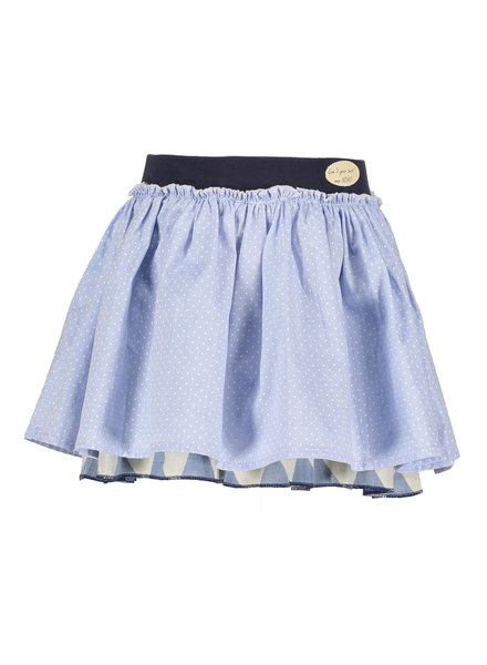 NoNo Numo reversible skirt with African triangle + chambray