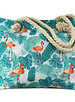 Miracles Beach bag flamingo turquoise