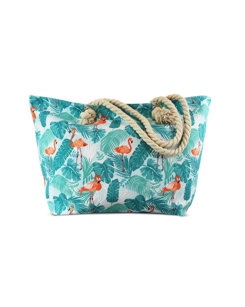 Miracles Beach bag flamingo turquoise