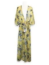 Miracles Long beach dress hawai yellow