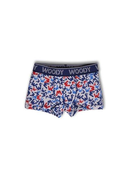 Woody Jongens short, W's blue all-over-print