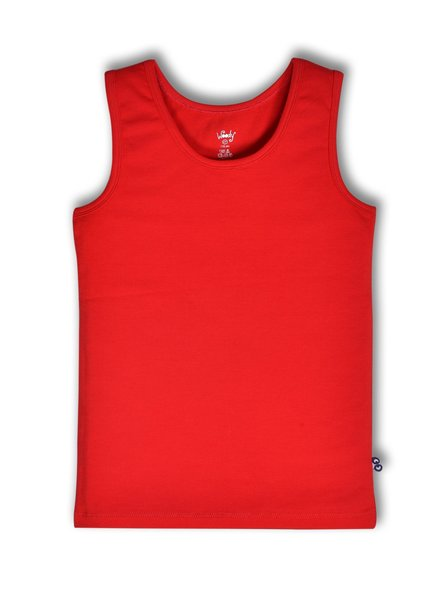 Woody Singlet for boys, racing red