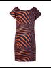Geisha Kleedje tshier stof rode zebra