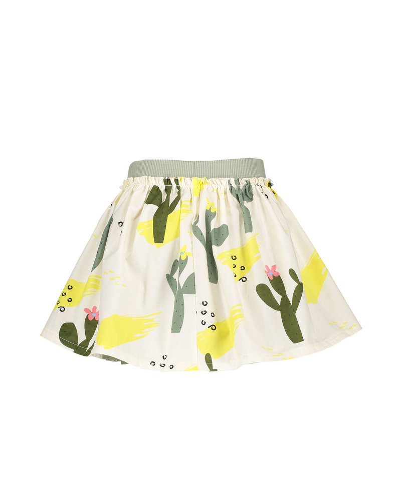 NoNo Nana reversible short skirt Lemon AOP + cactus AOP