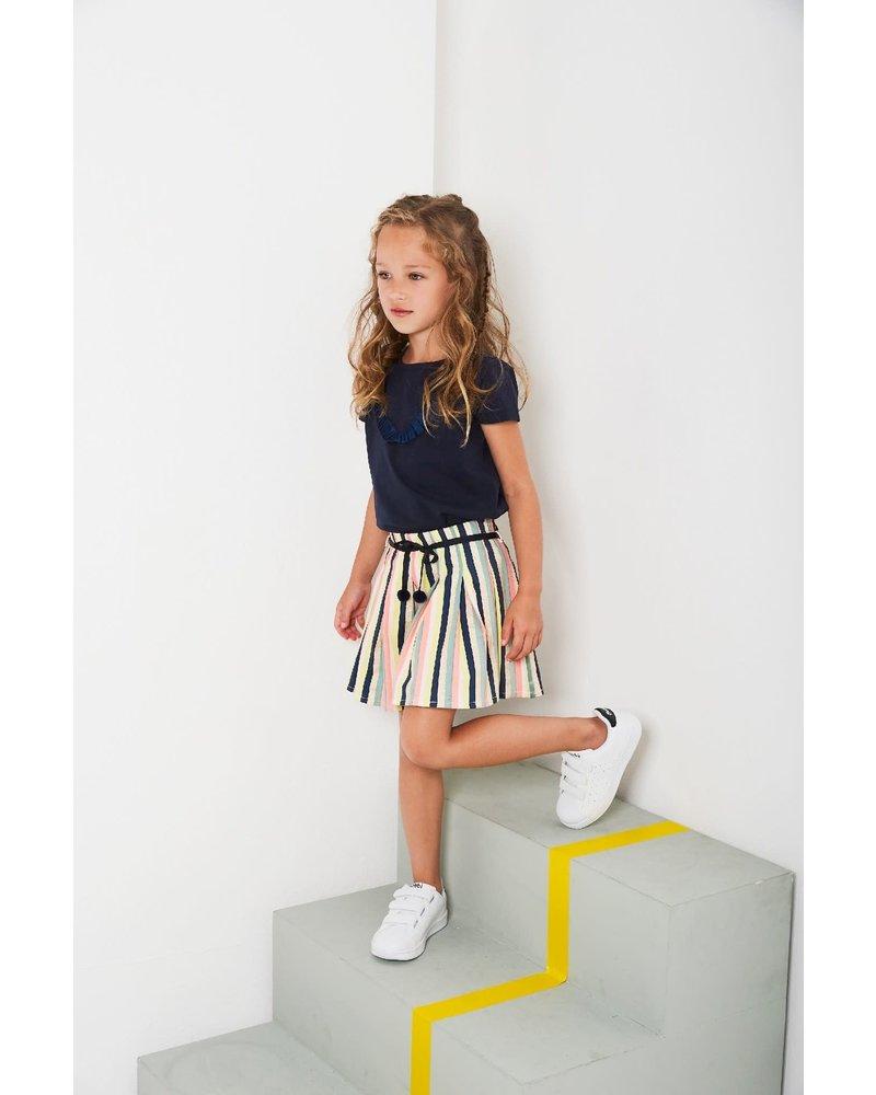 NoNo Nenab pleated skirt in multicolorprint