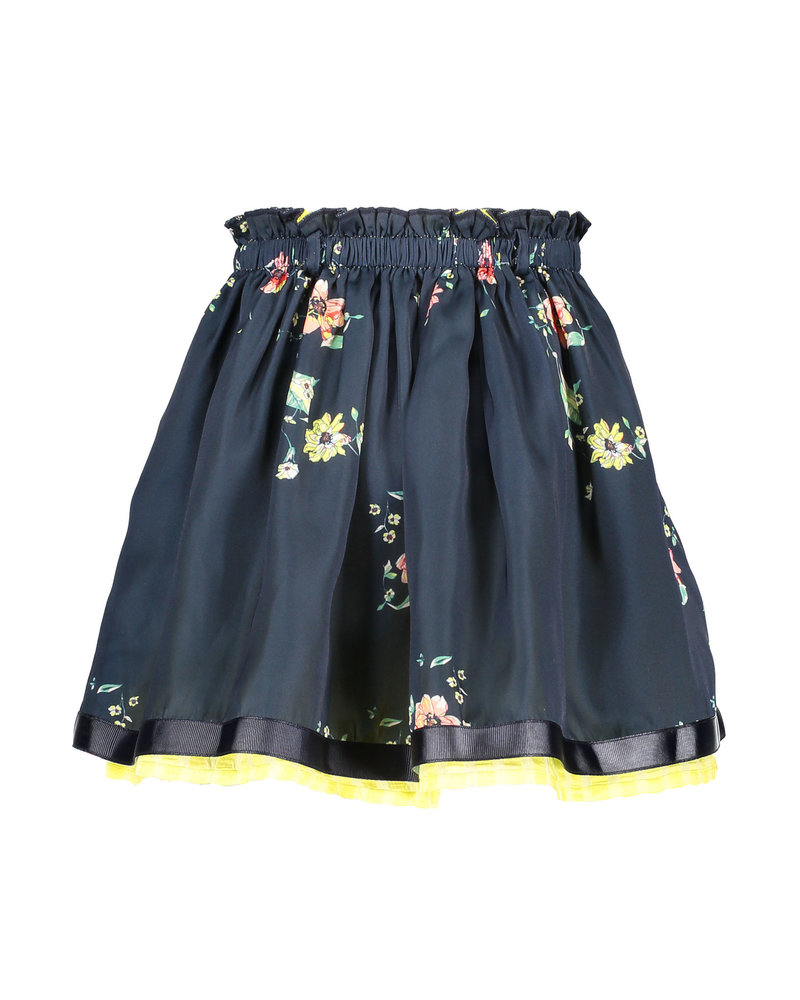 NoNo Noelle reversible skirt with satin AOP+seersucker