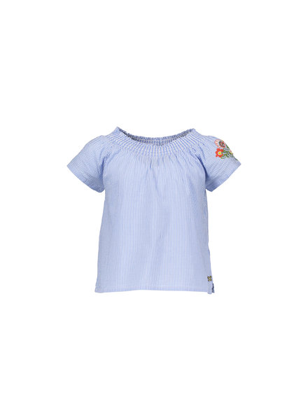 Street called Madison Luna stripe smock ss bloouse GIRLS TALK